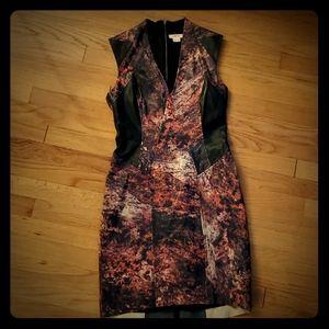 Helmut Lang Goat Leather Sheath Dress
